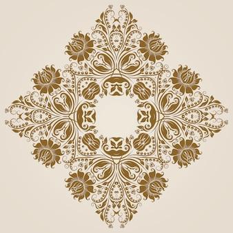 Ozdobny okrągły wzór koronki, koło tło