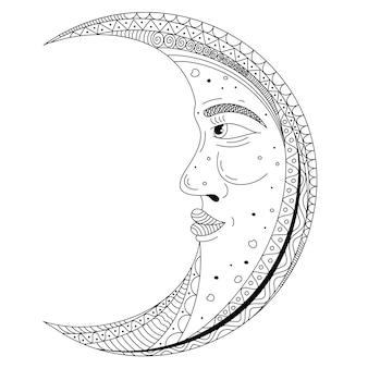 Ozdobny projekt księżyca