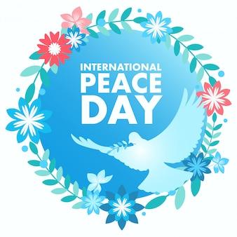 Ozdobny symbol pokoju na międzynarodowy dzień pokoju