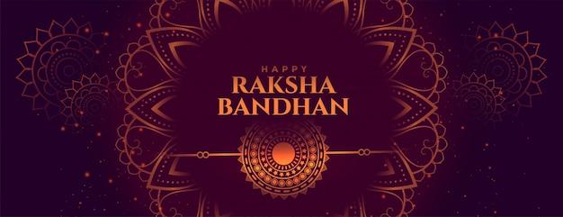 Ozdobny sztandar indyjskiego festiwalu raksha bandhan
