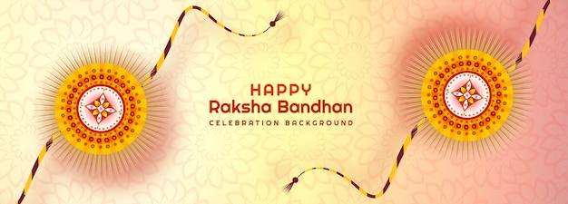 Ozdobny transparent rakhi na kartę raksha bandhan