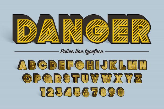 Ozdobny wektor wzór retro krój czcionki, czcionki, krój pisma.