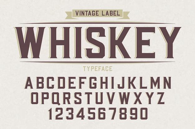 Ozdobny wektor wzór retro krój czcionki, czcionki, litery alfabetu