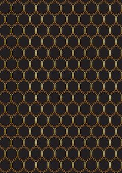 Ozdobny wzór złota i czerni