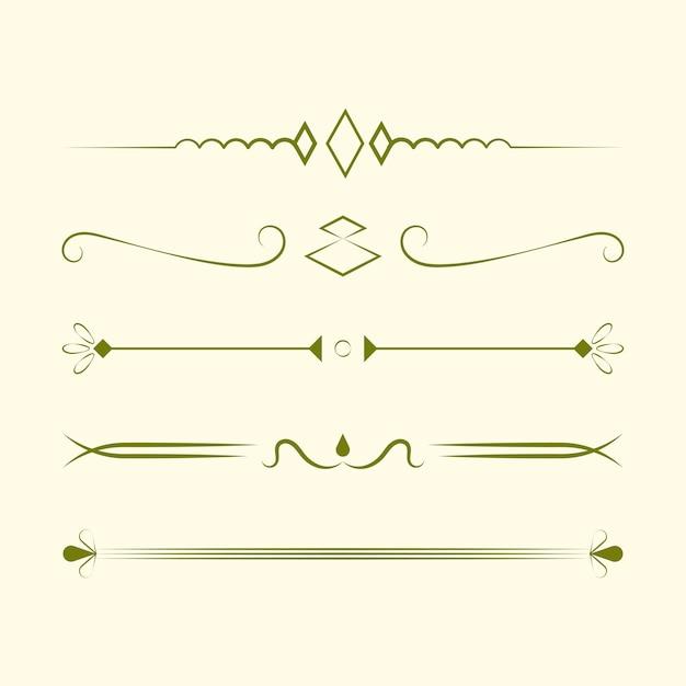 Ozdoby kolekcji wektora projektowania koncepcji