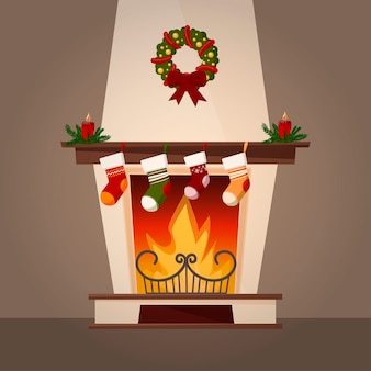 Ozdoby kominkowe i świąteczne.
