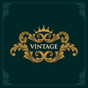 Ozdoby vintage vintage crown
