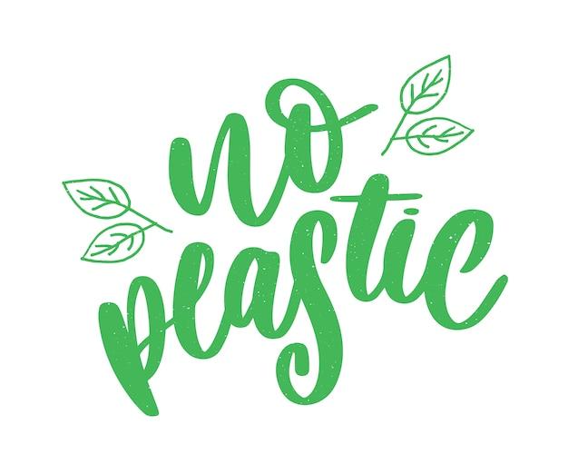 Oznaczenia produktu bez plastiku, naklejki bez plastikowego napisu