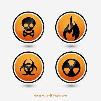 Oznak zagrożenia ustawić