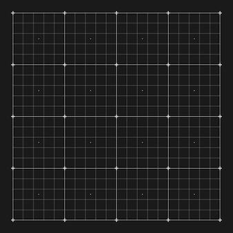 Oznakowanie siatki wektorowej dla interfejsu użytkownika hud