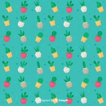 Płaski kaktus wzór
