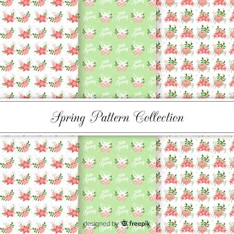 Płaski kwiatowy wzór wiosna