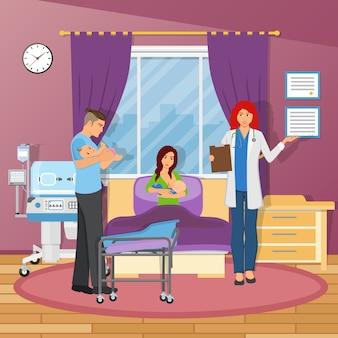 Płaski skład szpitala macierzyńskiego