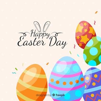 Płaski szczęśliwy Easter dnia tło