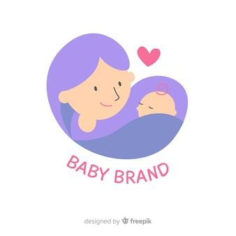 Płaskie logo dla niemowląt