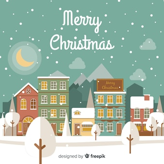 Płaskie miasto Boże Narodzenie