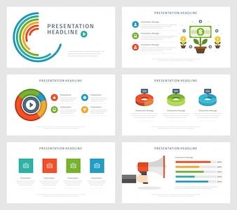 Płaskiego projekta wektoru ilustracyjni infographic projektów elementy