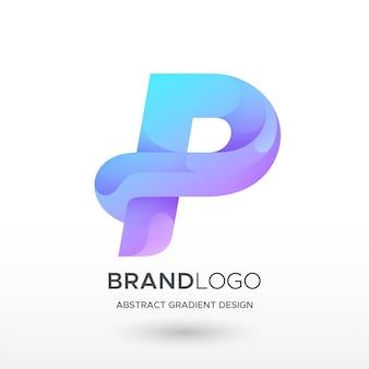 P logo gradientu