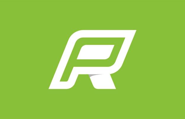 P Wewnątrz R Logo Premium Wektorów