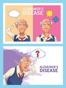 Pacjenci w podeszłym wieku z chorobą alzheimera z bąblami logicznymi