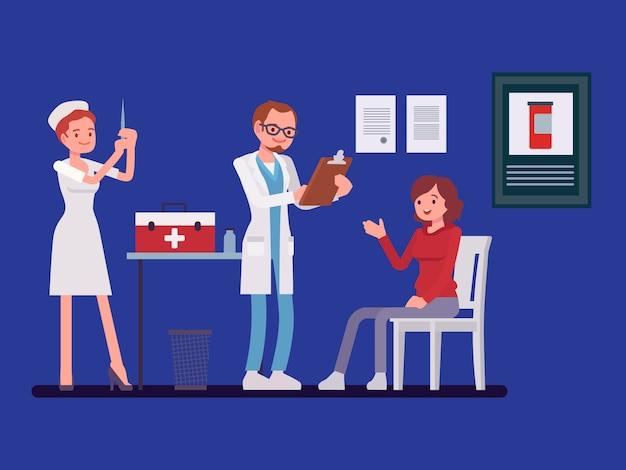 Pacjent konsultuje się z lekarzem
