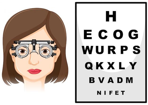 Pacjentka poddawana badaniu oczu
