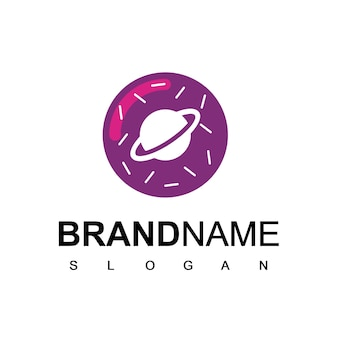 Pączek logo symbol przestrzeń ciasta