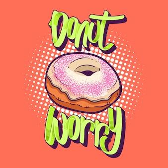 Pączek Zmartwienia Donuts Koszulka Wycena Wektoru Ilustracja Premium Wektorów