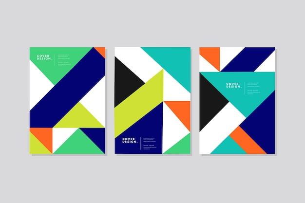 Paczka abstrakcyjnych kolorowych okładek
