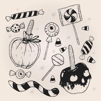 Paczka cukierków na halloween