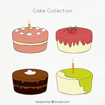 Paczka czterech tortów urodzinowych