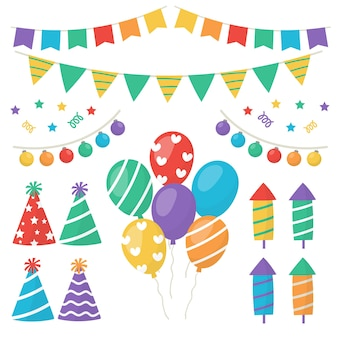 Paczka dekoracji urodzinowych