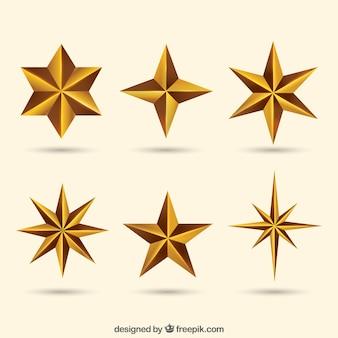 Paczka dekoracyjnych gwiazdek