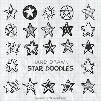 Paczka doodles gwiazdek