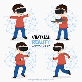 Paczka dzieci w wirtualnych światach