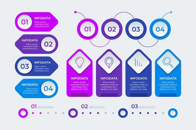 Paczka elementów infographic