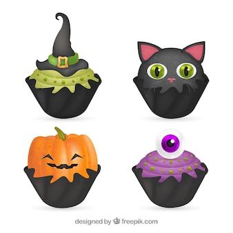 Paczka halloween cupcakes