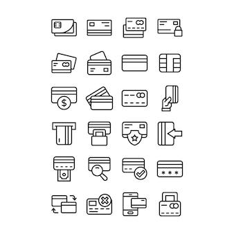 Paczka ikon kart bankowych