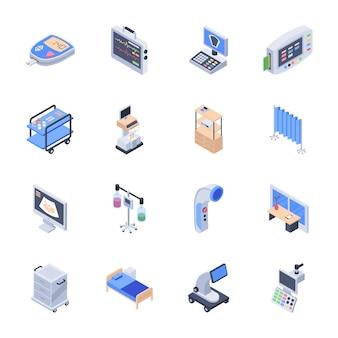 Paczka ikon sprzętu medycznego