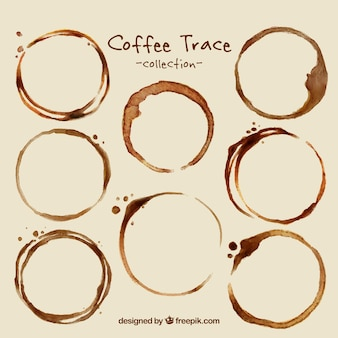 Paczka kawy plamy