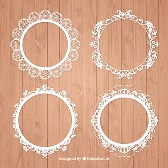 Paczka klasycznych ramek okrągłych