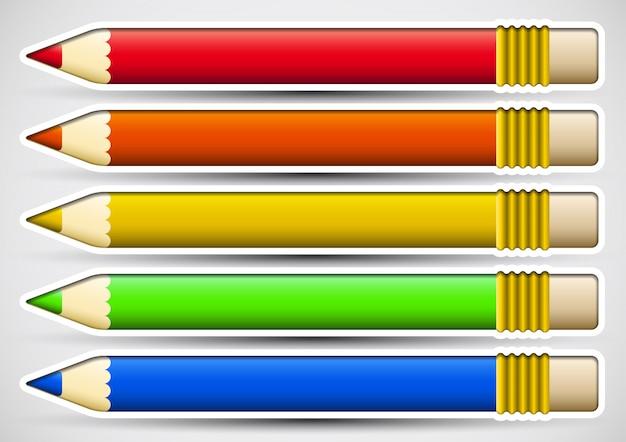 Paczka kolorowych ołówków