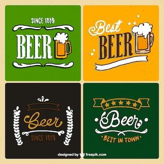 Paczka kolorowych znaczków piwa