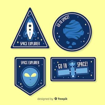 Paczka kosmicznych naklejek