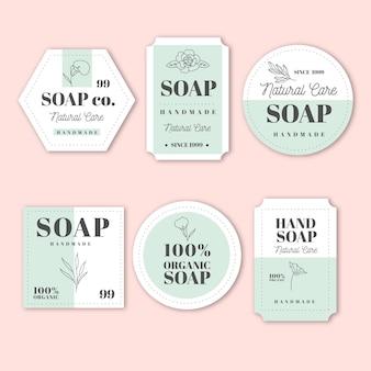 Paczka kreatywnych etykiet mydła