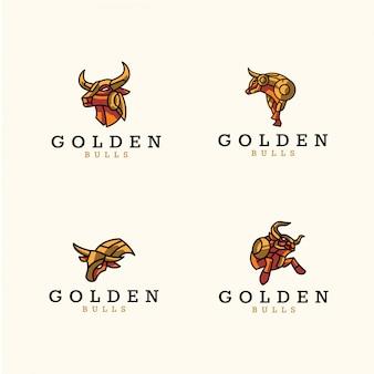 Paczka logo złotych byków