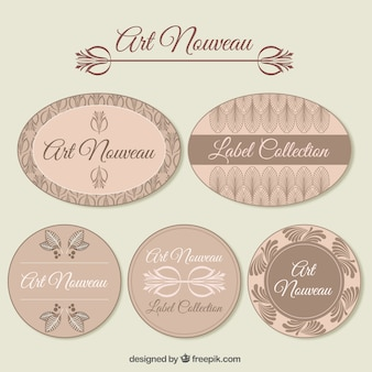 Paczka nouveau odznaki sztuki dekoracyjnej