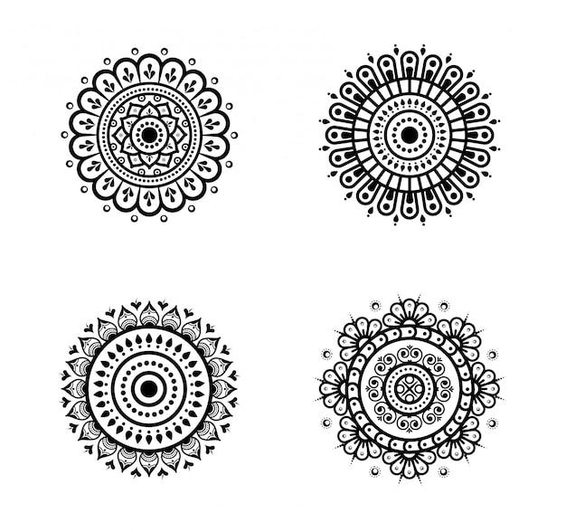 Paczka okrągłych mandali