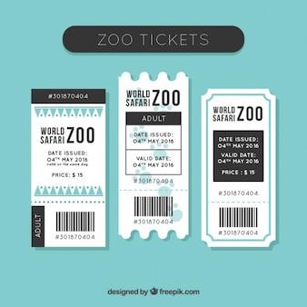 Paczka płaskich biletów zoo