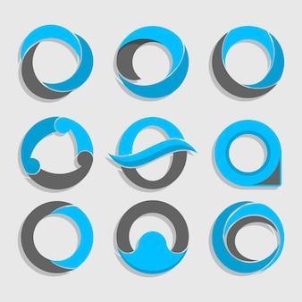 Paczka płaskich szablonów logo